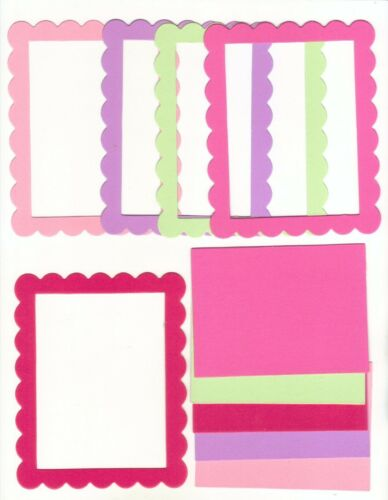Butterfly Wings Colors Scallop Rectangle Cardstock Die Cut Photo Frames Set of 5