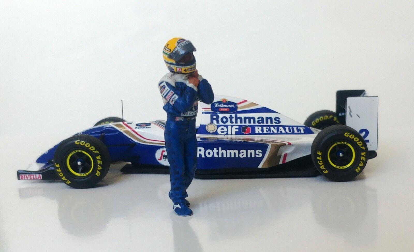 1 43 Ayrton Senna 1994 Williams FW16 figurine figure - Walking to   from car