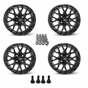 "Sportsman-4 wheels ITP SS216 ATV Wheels//Rim Matte Black 12/"" Polaris Ranger,RZR"