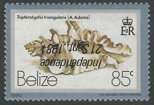 1981-Belize-Sc-584-var-SG-641a-85c-Independence-Inverted-Overprint-Mint-NH