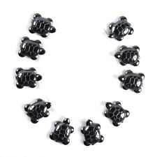 1027 10pcs of 27mm Hematite turtle loose beads
