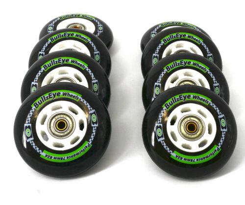 4//8er Hyper BULLZEYE Rolle PERFORMANCE 78mm K2 Skates Op montiert Lager+Spacer