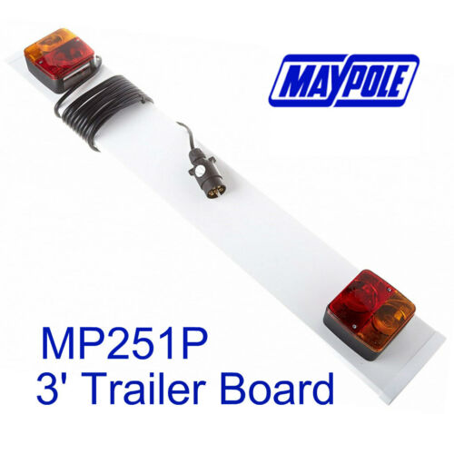 Maypole Trailer Board MP251 0.915 Mtr 3ft /& 4 Mtr Cable Towing Trailer Tow Bar