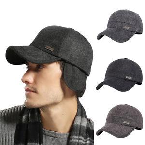 PT-Lk-Eg-Uomo-Caldo-Inverno-Golf-Coppola-Berretto-Visiera-Cappello-Baseba