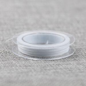 Bobine-de-fil-Nylon-Elastique-0-8mm-Blanc-environ-10m-creation-bijoux-bracelet
