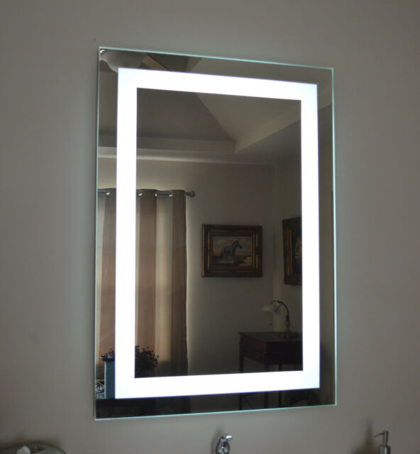 Front Lighted Led Bathroom Vanity Mirror 28 X 36 Rectangular