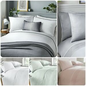 Serene-POM-POM-Bedding-Duvet-Cover-Pillowcase-Set-Pintuck-Quilt-Cover-Easy-Care