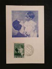 BELGIEN MK 1937 !! KÖNIGIN ASTRID PRINZ BAUDOUIN CARTE MAXIMUM CARD MC CM c7917