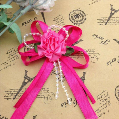 5-15 Large Rose Bead Ribbon Flower for wedding gift wrap party decoration
