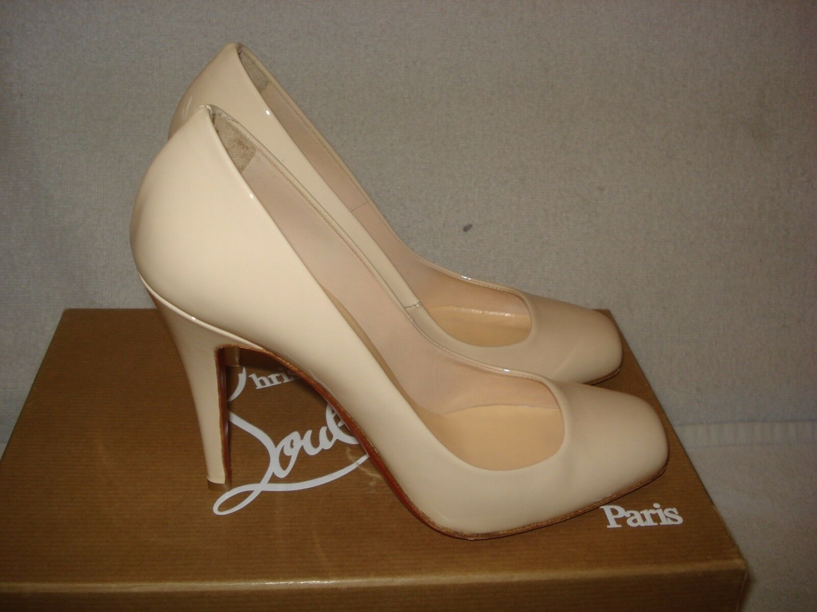 100% AUTHENTIC AUTHENTIC AUTHENTIC NEW WOMEN LOUBOUTIN NUDE 100 PARTICULE PUMPS HEELS US 7 e8932c