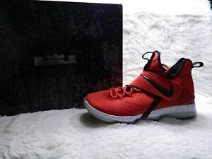 0ccccf4cfeea Nike Lebron 14 XIV Mens Size 10.5 University Red Black Basketball ...