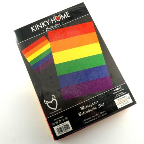 80 X  80 von Kinky Home Erotik Gay Microfaser Bettwäsche Rainbow 135 X 200