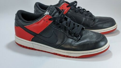 Nike Dunk Low Black Sport Red Bred Size 11