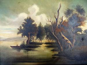 Peinture barbizon 19eme sous bois huile sur toile for Barbizon peintre