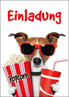 kino-einladungen: Lustige Einladungskarten Ins Kino Zum Kindergeburtstag