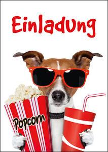 kino einladungen lustige einladungskarten ins kino zum kindergeburtstag ebay. Black Bedroom Furniture Sets. Home Design Ideas
