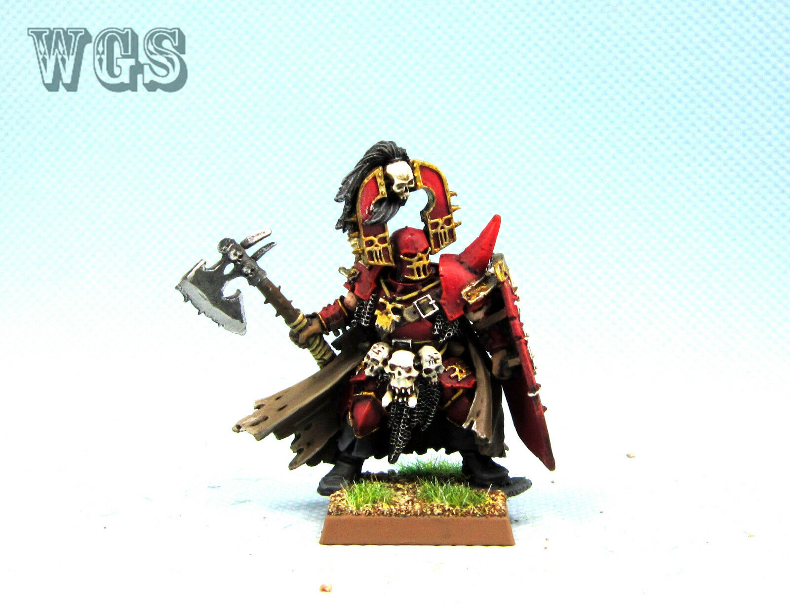 25mm Warhammer Fantasy un Pintado guerreros del caos khorne Chaos Lord WC036