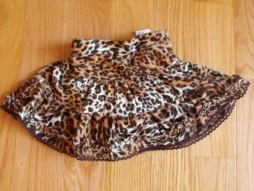The Children/'s Place Girls Pippi Cord Skirt 18m Leopard Animal Skort NWT New