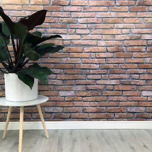 Rustic Brick Red Bathroom Wall Panels Cladding Shower PVC ...