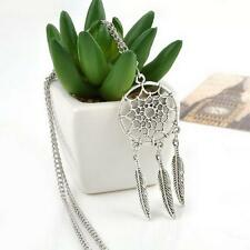 Girl Dream Catcher Feather Pendant Retro Jewelry Long Sweater Chain Necklace @#