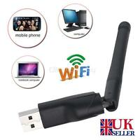 150Mbps Wireless USB WiFi PC Dongle LAN Adapter 802.11n/g/b Antennae MAG Skybox