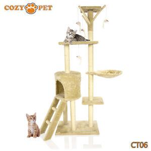 Cozy Pet Deluxe Cat Tree Sisal Scratching Post Quality Cat Trees  CT06-Beige