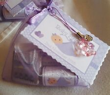 BABYSHOWER  - Lilac organza bags x10 filled bags Also for CHRISTENINGS - BAPTISM