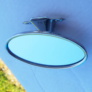 Oval-Street-Rod-Rear-View-Mirror-41-48-Ford-Car-48-52-Pickup-Polished-Stainless