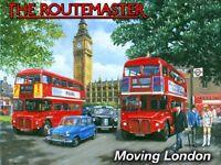 New 15x20cm ROUTEMASTER LONDON BUS enamel style metal vintage advertising sign