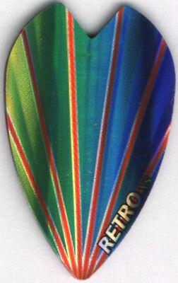 Rainbow Mini Vortex Dart Flights: 3 per set