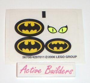 Image Is Loading Lego STICKERS Batman Logo Dragster 7779 Catwoman Eyes
