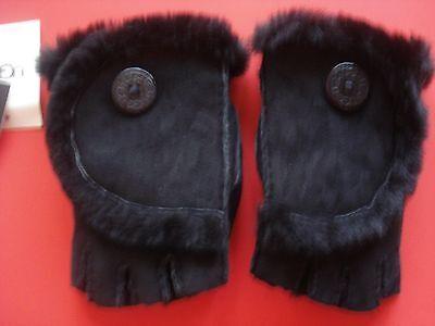 Ugg Fingerless Gloves Shearling Black