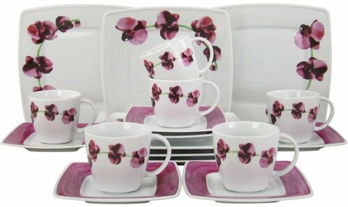 Victoria Orchidee Kaffeeservice 18teilg Porzellan 6 Personen Creatable 12345