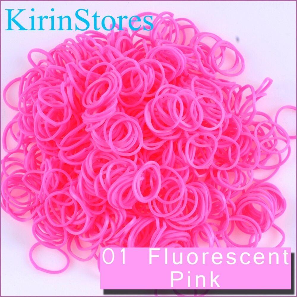 600 PCS 24 Clips Bands Refills for Loom Rainbow Bracelet Dress Making Kirinstores TM 36 Skin Light Beige