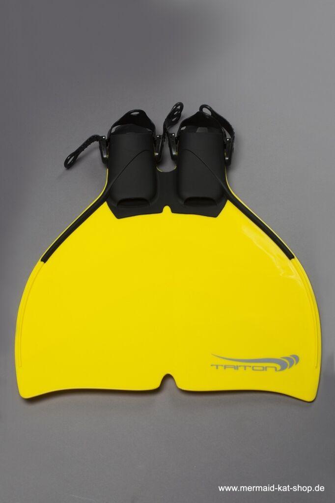 Freitauch Monoflosse für die Meerjungfrau von Triton in der Farbe gelb