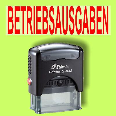Betriebsausgaben - Shiny Printer Schwarz S-842 Büro Stempel Kissen Rot