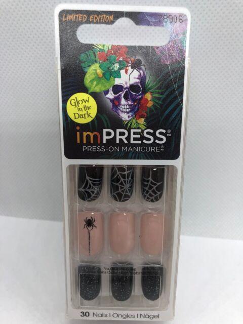 KISS Impress Press On Manicure Nails Full Moon Halloween ...