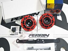 Perrin Mounting Bracket & 1 Pair Hella Supertone Horn For 08-14 WRX/ STi
