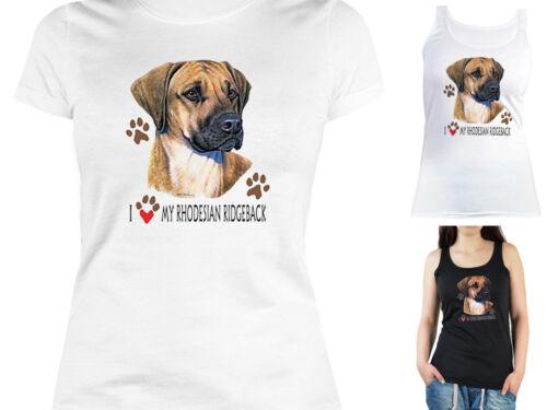 Hunderassen Rhodesian Ridgeback Damen Shirt Rhodesian Ridgeback Motiv T-Shirt