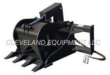 New Stump Grapple Bucket Attachment Skid Steer Loader Asv Posi Track Scat Trak