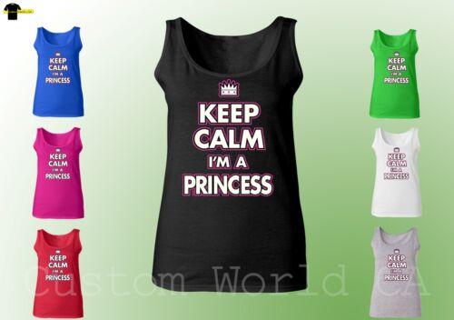 Keep Calm I/'m A Princess New Design Tank Top Women Tank Top