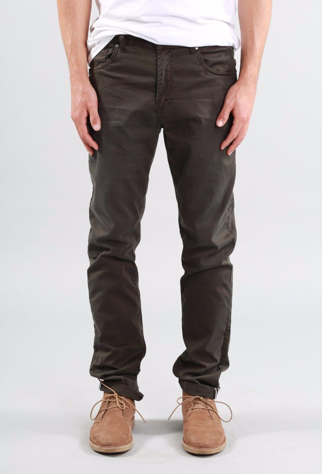 Rusty Indi Slims Men Slouch Rise Narrow leg Illusion Pants Gravel Size W36