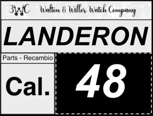 1 pc Landeron Cal 48 original parts vintage GENUINE manual New NOS 3WC