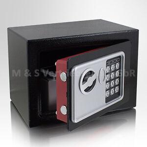 Mini-Tresor-Zahlenschloss-elektronisch-Minisafe-Wandtresor-Wandsafe-schwarz-Safe