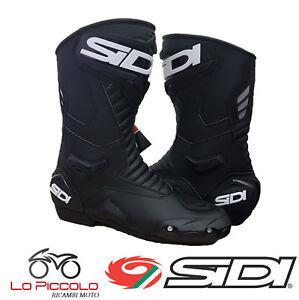 STIVALI-BOOTS-MOTO-SIDI-PERFORMER-PELLE-BLACK-NERO-TURISMO-SUPERSPORT-TG-45