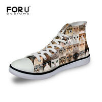 Animal Print High Top Canvas Shoes Women's Fashion Running Shoes Sneaker Boots