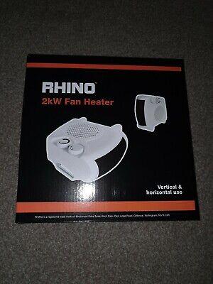 Rhino H02073 2000 W Fan Heater White