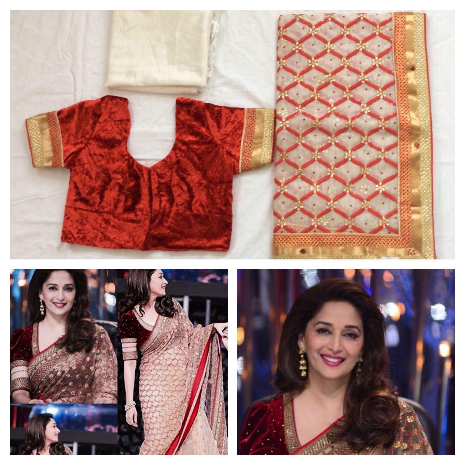 Donna Indiano Bollywood Abito Net Designer Sari Ready Made Matrimonio oro Bianco