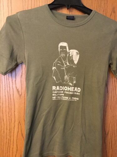 Radiohead.  Green Shirt.  M.