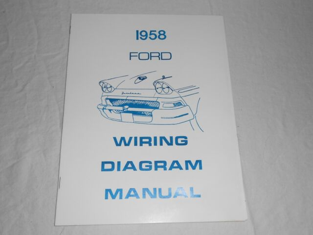 1958 Ford Wiring Diagram Manual